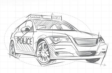 Coche de policía inteligente